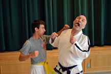 Sparring with seniors