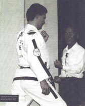 Master Arnold training with General Choi