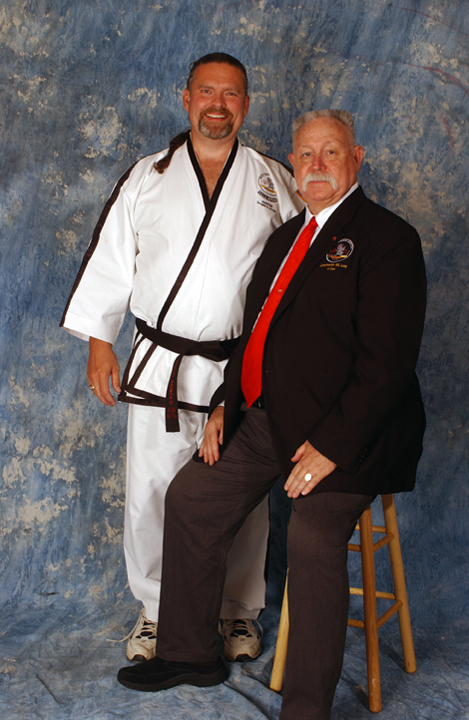 Master Arnold with Grand Master Lang