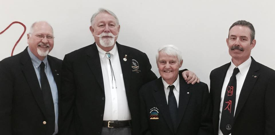 Grand Master Lang with Master Strouse